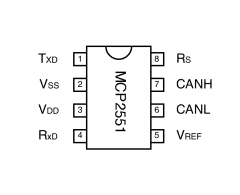 mcp2551 connection diagram